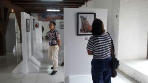 Suasana Pameran Foto Kapal Pinisi di Musem Bahari Jakarta, Selasa (15/5).