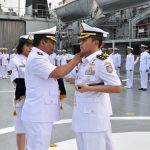 Jabat Danlanal Ternate, Komandan KRI Banda Aceh-593 Serahkan Jabatan Kepada Dansatlinlamil Jakarta