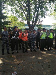 Suasana Apel Siaga Bersama dalam rangka pengamanan Pilkada Kota Tegal.