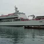 Menhan Resmi Meluncurkan Kapal Angkut KRI Teluk Lada 521