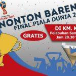 Nobar Final Sepakbola Piala Dunia 2018 di KM Kelimutu