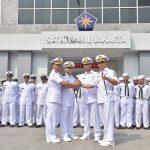 Pimpin Sertijab Dua KRI, Dansatlinlamil Jakarta Tekankan Pentingnya Wawasan Kepemimpinan