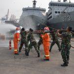 Bekali Kesiapsiagaan Prajurit, Satinlamil Jakarta Gelar Latihan Penyelamatan Kapal