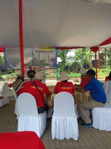 Kepala Biro Umum Bakamla RI  Kepala Biro Umum (Karoum) Bakamla RI, Brigjen TNI (Mar) Sandy M. Latief  memberikan sambutan kepada para peserta yang hadir dalam Media Gathering Bakamla RI.