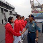 Raih Prestasi Tingkat Asia, Satlinlamil Jakarta Sambut Atlet Asian Games Kolinlamil