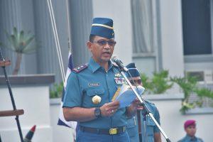 Danseskoal Laksamana Muda TNI Amarullah Octavian saat menjadi Inspektur Upacara di Upacara Peringatan Sumpah Pemuda Seskoal.