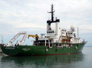 Kapal Riset Baruna Jaya I yang akan melakukan survey dan pemetaan batimetri serta membawa bantuan untuk korban gempa Palu. (Foto: Pinterest)