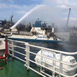Kapal Penumpang KMP Gerbang Samudera 1 Terbakar