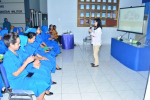 Edukasi kanker serviks oleh Jalasenatri Cabang 3 Satlinlamil Surabaya.