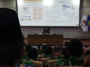 Menko Perekonomian Airlangga Hartanto tatkala memberikan kuliah umum di Seskoal.