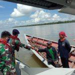 Batasi Penyebaran Covid-19, Lanal Nunukan Gelar Patroli Bersama