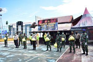 Dapur umum TNI-Polri di Tolitoli.