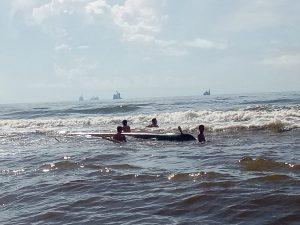 Tim SFQR Lanal Sangatta Berhasil Selamatkan Korban Laka Laut.
