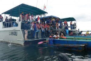 Perkuat Sinergitas TNI-Polri, Lanal Balikpapan Dukung Kegiatan Bhaksos HUT Bhayangkara Ke-74.