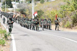 Latihan lintas medan Lantamal VII.