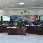 Pangkoarmada II Memaparkan Konsep Umum Operasi Secara Virtual Kepada Pangkogab TNI