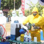 Buat Disinfektan Mandiri, Warga Perumahan Koarmada II Pangkas Penyebaran Corona