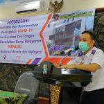 BKKP dan UPP Indramayu Gelar Aksi Sosialisasi Protokol Kesehatan Covid-19