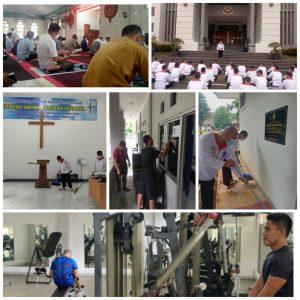 Kolase gambar berbagai kegiatan positif yang dilakukan oleh para Pasis Seskoal selama masa libur akhir pekan.