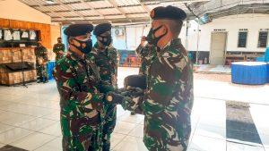 Komandan KRI Sampari-628 Menyerahkan Jabatan Kepada Dansatkat Koarmada II