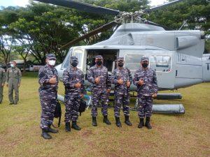 Kepala Staf TNI Angkatan Laut (Kasal) mengunjungi Pusat Latihan Tempur (Puslatpur) 4 Marinir Purboyo, Malang, Senin (8/3).