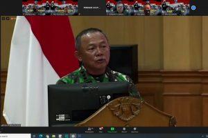 Suasana Rapat Koordinasi Teknis Penerangan (Rakornispen) TNI tahun 2021.
