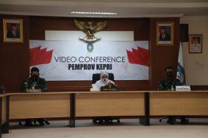Video Confrence antara Pemprov Kepri dengan Pasis Dikreg Seskoal.