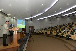 Menteri Pertanian Syahrul Yasin Limpo saat memberi kuliah umum bagi Pasis Seskoal.