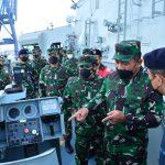 Wakasal Tinjau Kesiapan Alutsista AL Jelang Latihan Armada Jaya